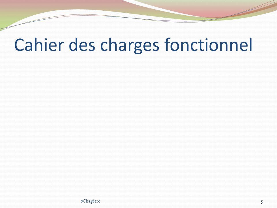 Cahier des charges fonctionnel $Chapitre5