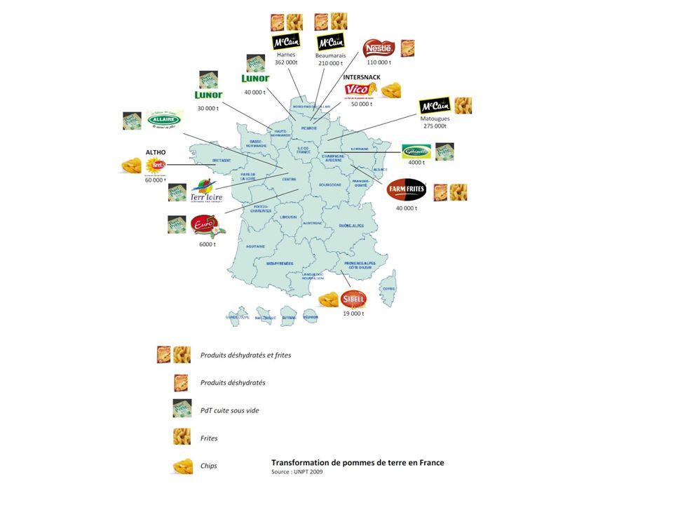 La France produit 5 500 000 millions de tonnes de pommes de terre par an - 1,1 million de tonnes sont vendues à létat frais.