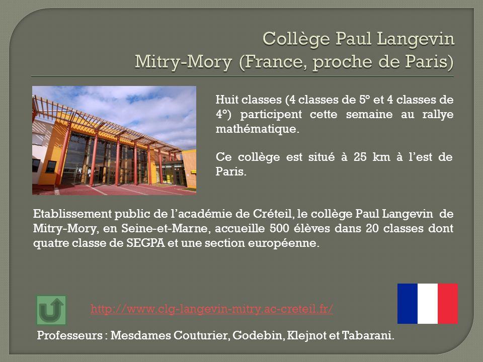 Etablissement public de lacadémie de Créteil, le collège Paul Langevin de Mitry-Mory, en Seine-et-Marne, accueille 500 élèves dans 20 classes dont qua