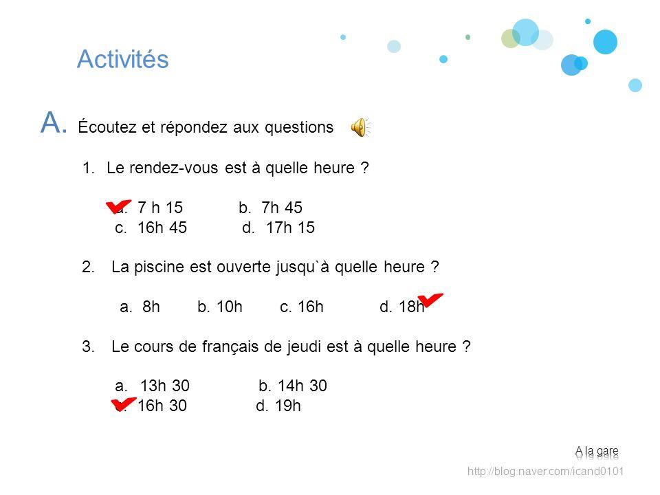 Activités A.