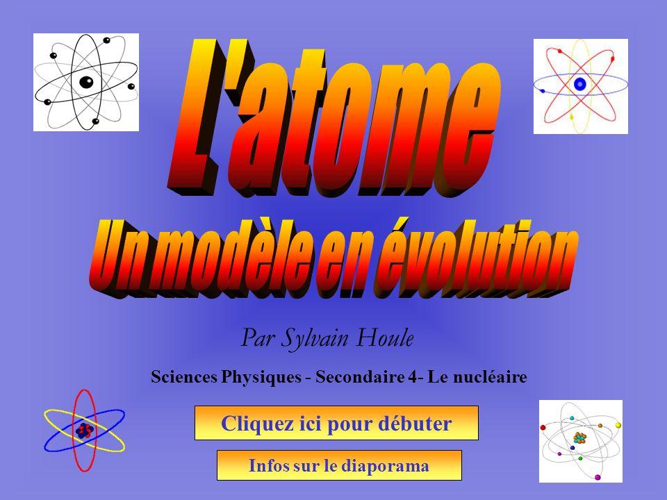 Par Sylvain Houle Sciences Physiques - Secondaire 4- Le nucléaire Cliquez ici pour débuter Infos sur le diaporama