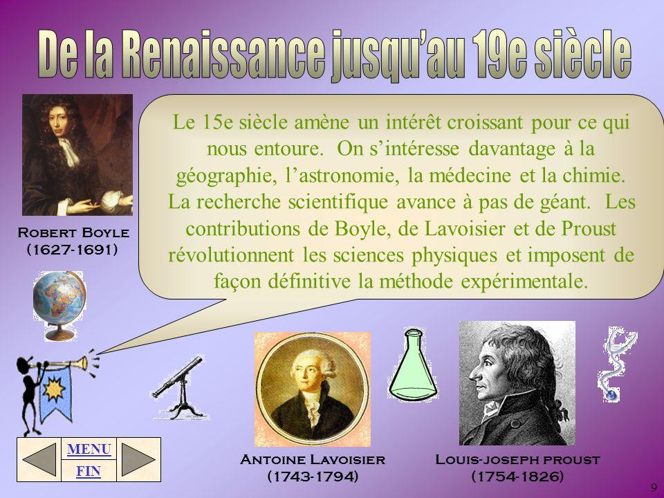 MENU FIN 8 Au cours des 1000 ans qui vont suivre, la science progresse lentement. Les alchimistes ajoutent un peu de magie et de religion à la science