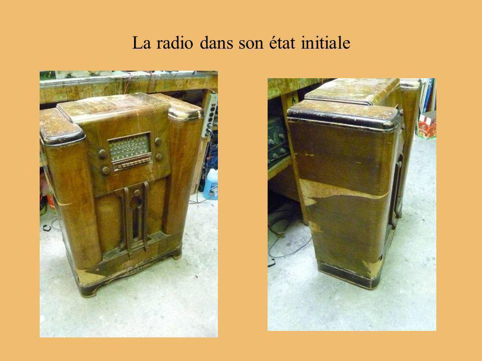 La radio dans son état initiale