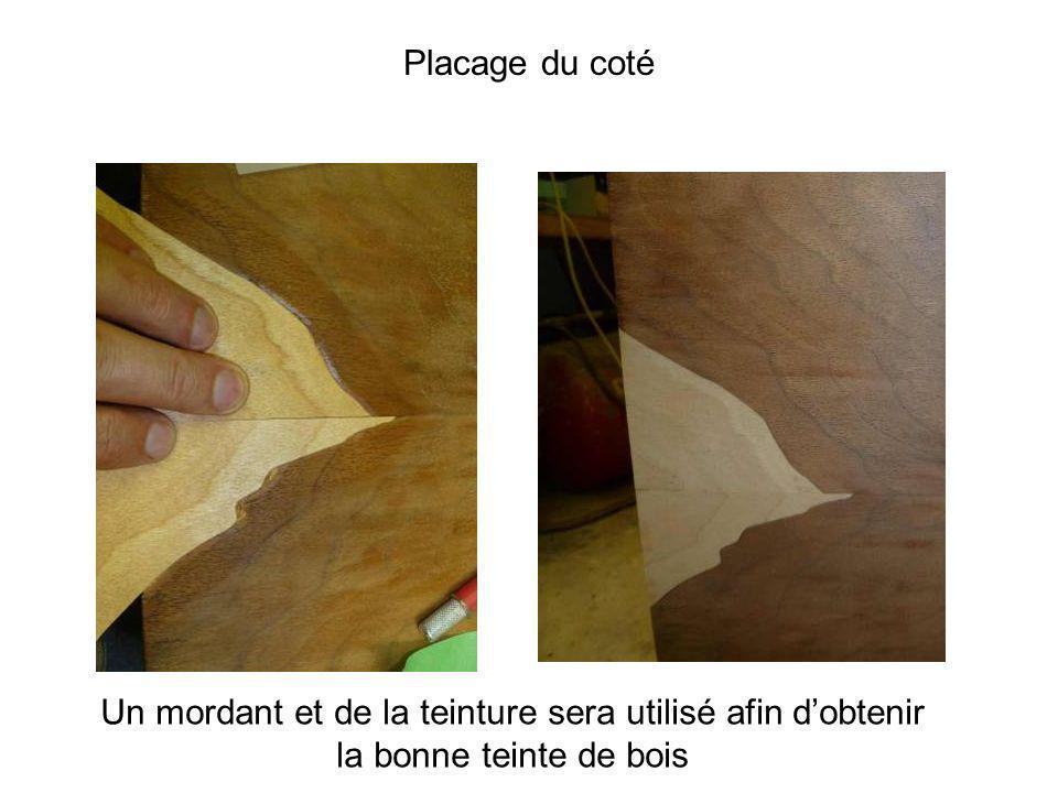 Un mordant et de la teinture sera utilisé afin dobtenir la bonne teinte de bois