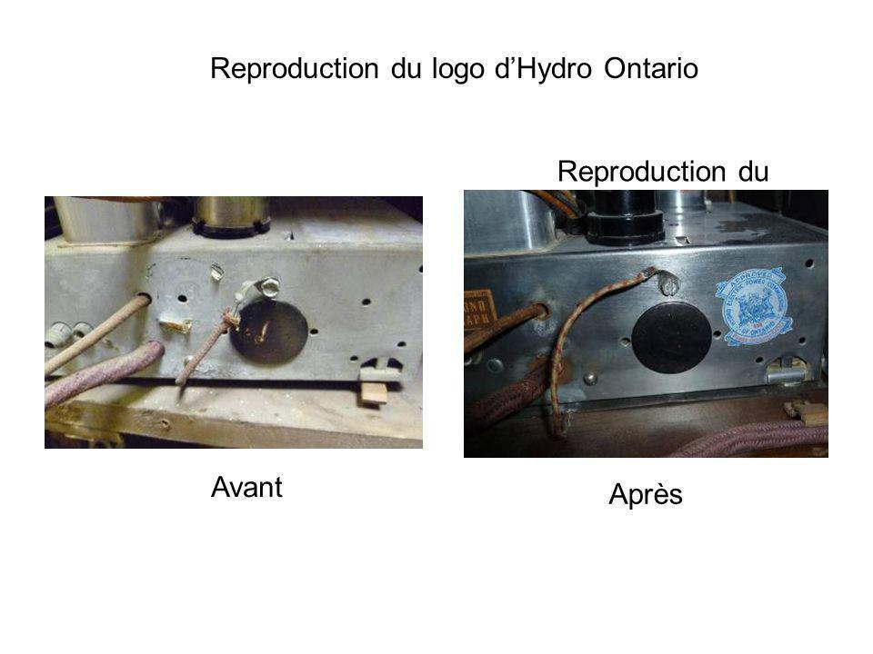 Reproduction du logo dHydro Ontario Reproduction du logo de Hydro Ontario Avant Après