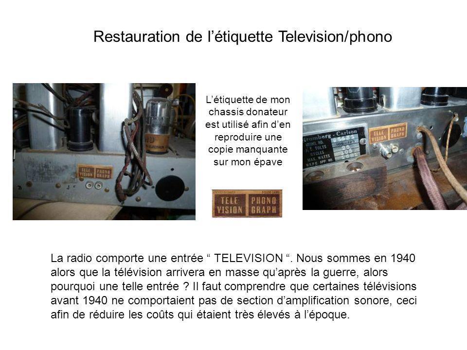 La radio comporte une entrée TELEVISION. Nous sommes en 1940 alors que la télévision arrivera en masse quaprès la guerre, alors pourquoi une telle ent