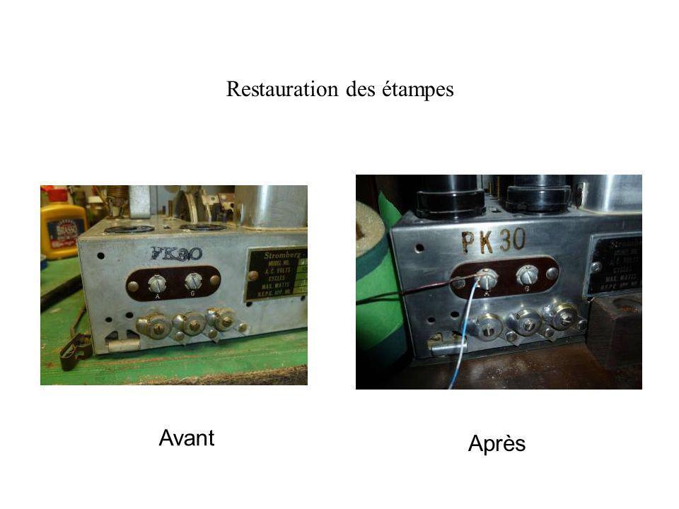 Restauration des étampes Avant Après