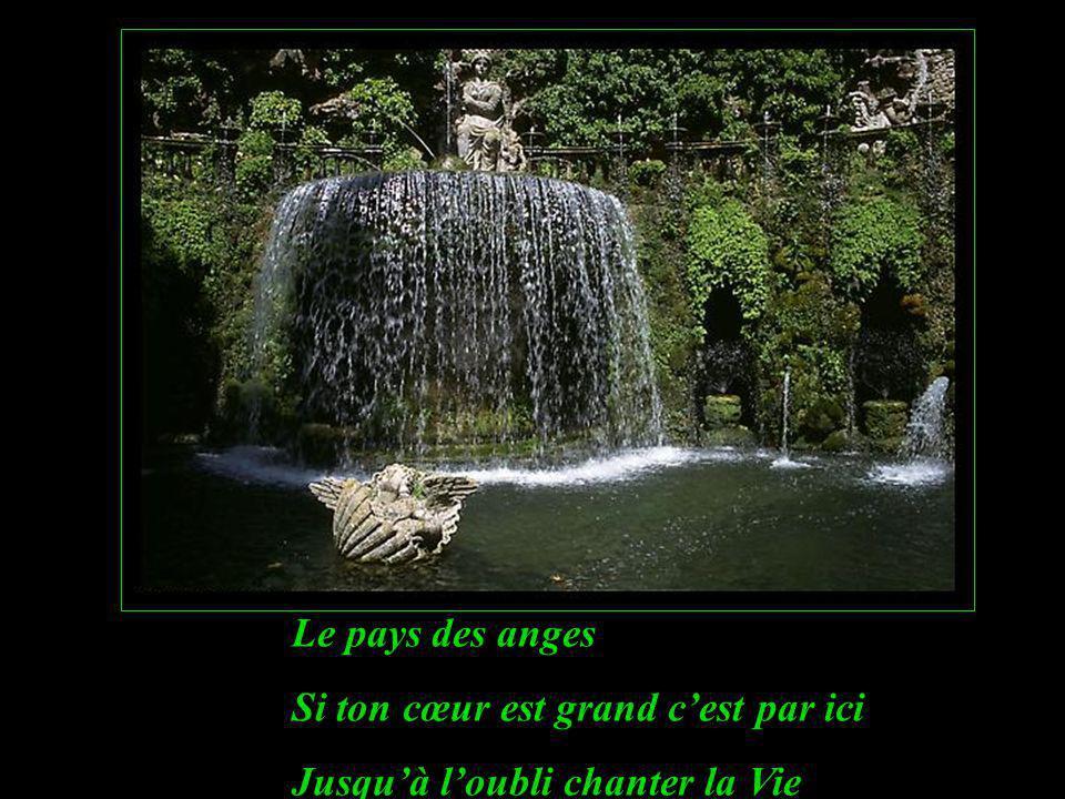 Le pays des anges Si ton cœur est grand cest par ici Jusquà loubli chanter la Vie