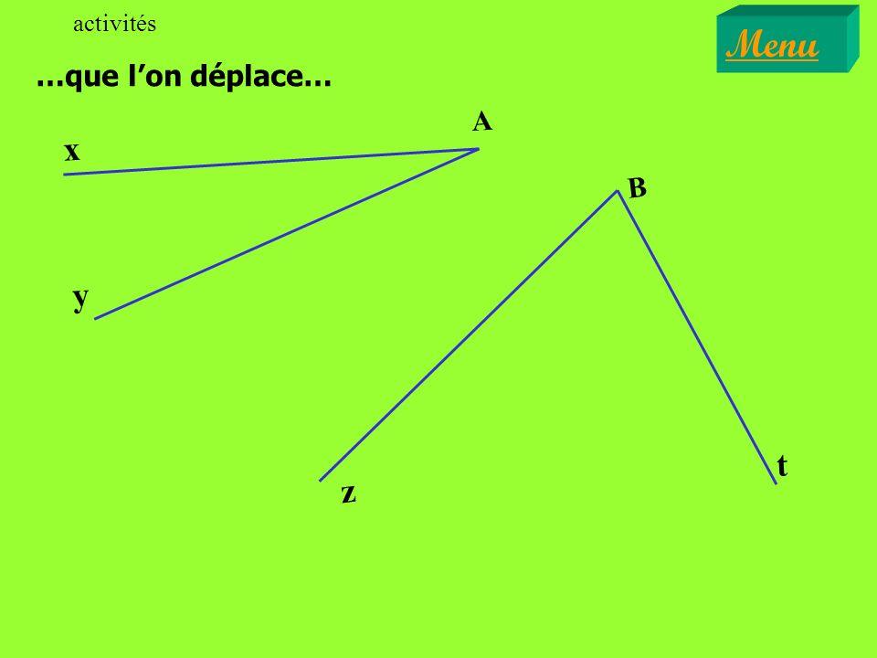 Sur les figures qui vont suivre, il sagit de reconnaître si les angles proposés sont adjacents.