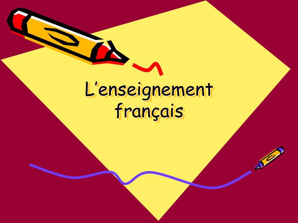 Lenseignement français