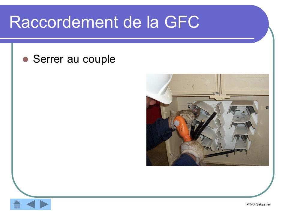Raccordement de la GFC Serrer au couple PRAX Sébastien