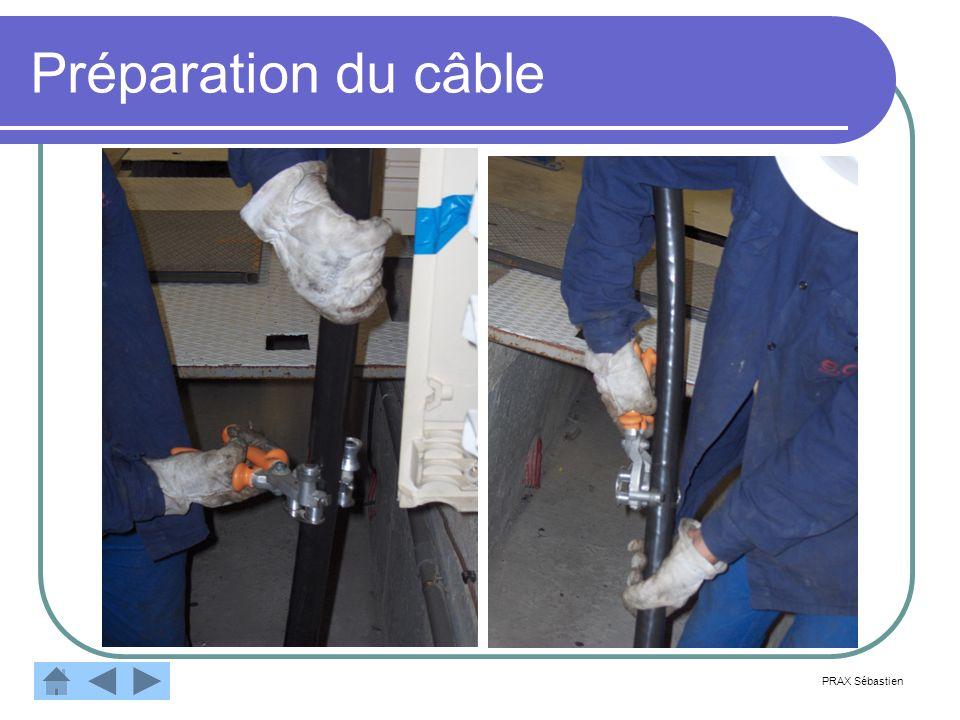 PRAX Sébastien Préparation du câble Retirer la gaine extérieure