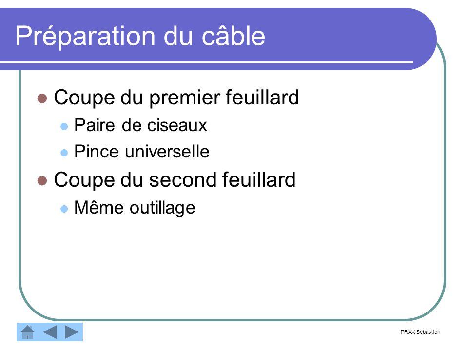 Préparation du câble Terminer par lextrémité PRAX Sébastien