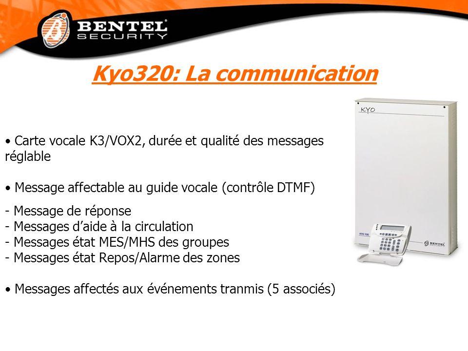 Carte vocale K3/VOX2, durée et qualité des messages réglable Message affectable au guide vocale (contrôle DTMF) - Message de réponse - Messages daide