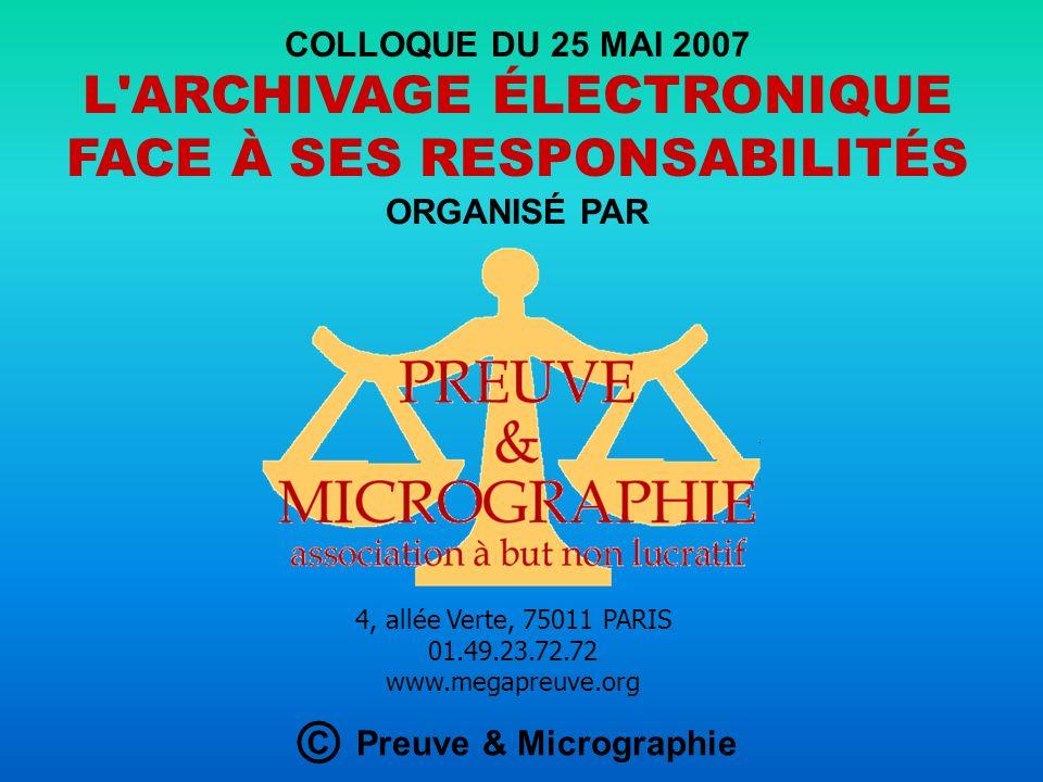 LA MICROGRAPHIE INFORMATIQUE Intervention de Lucien PAULIAC, président de l Association