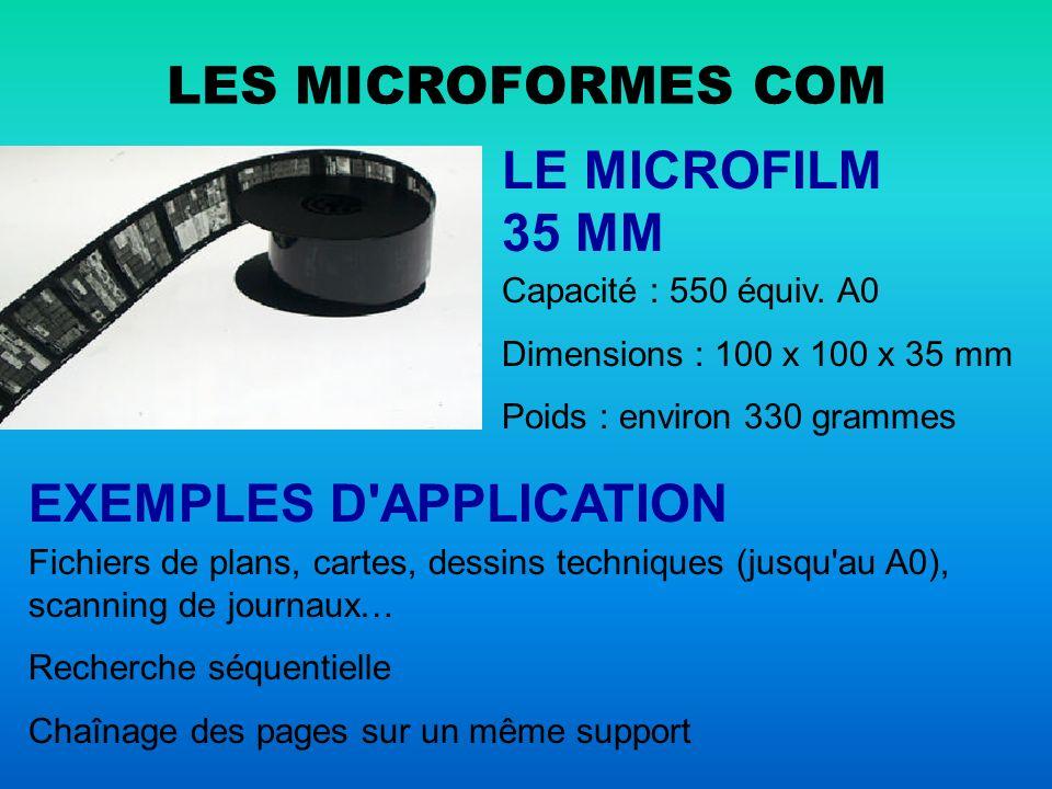 LE DUAL ENREGISTREMENT COM-COLD Computer Output Microform Computer Output Laser Disk