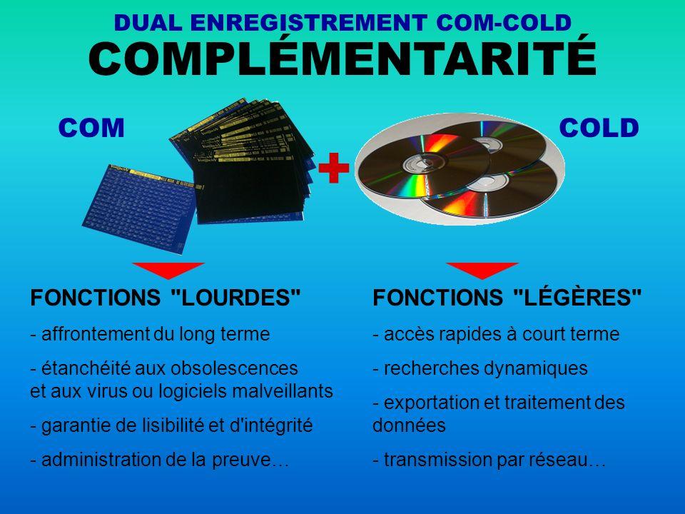 LE DUAL ENREGISTREMENT COM-COLD N EST PAS UN EFFET DE MANCHE C est un principe concret, simple, efficace et immédiatement applicable.