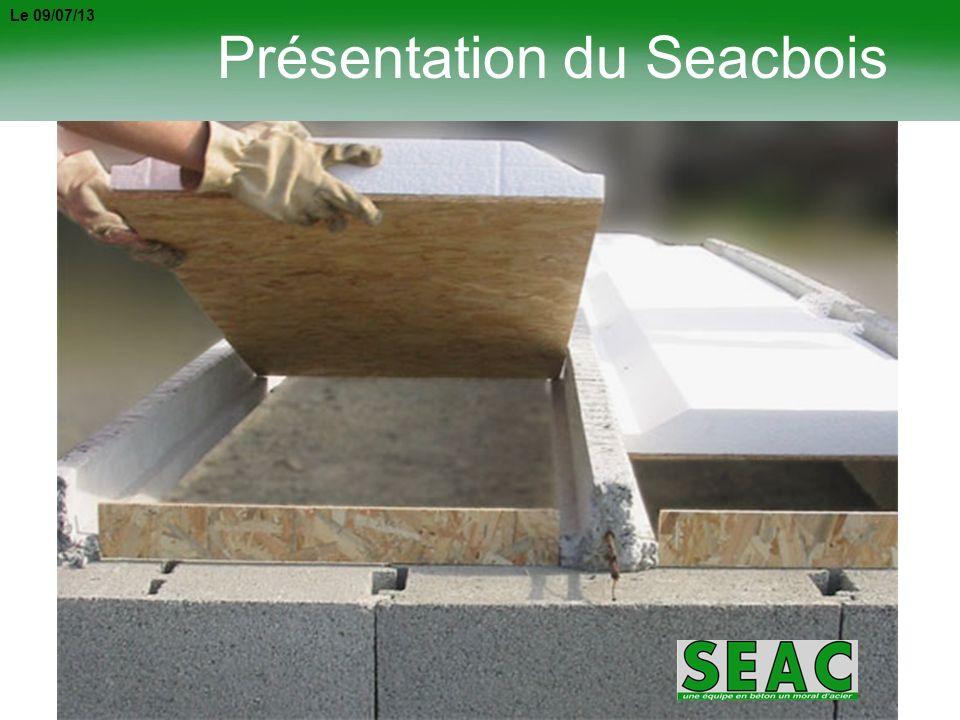 2 AVANTAGES DU SEACBOIS PAS DE GESTION DEMBALLAGE Son conditionnement sur palette perdue évite tous soucis de gestion demballage.