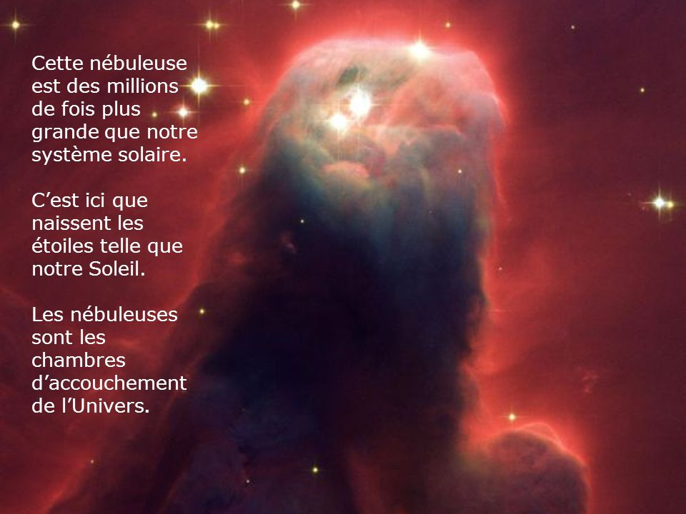 Ceci est une étoile mourante qui se situe à trois mille années lumière de nous. Une année lumière correspond à dix mille milliards de kilomètres.
