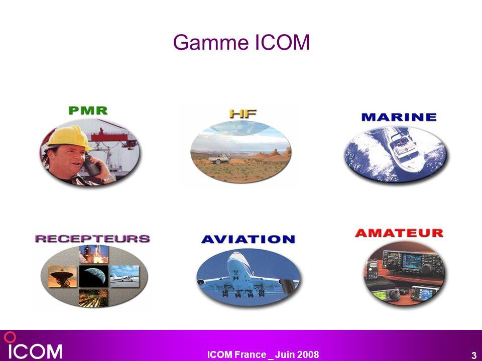 ICOM France _ Juin 2008 3 Gamme ICOM