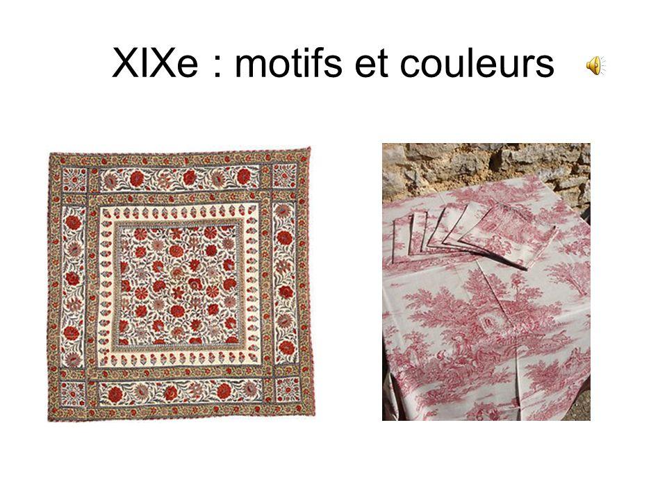 XIXe : motifs et couleurs