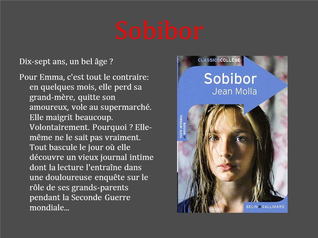 Sobibor Dix-sept ans, un bel âge ? Pour Emma, c'est tout le contraire: en quelques mois, elle perd sa grand-mère, quitte son amoureux, vole au superma