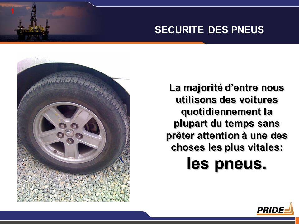 1 La majorité dentre nous utilisons des voitures quotidiennement la plupart du temps sans prêter attention à une des choses les plus vitales: les pneu