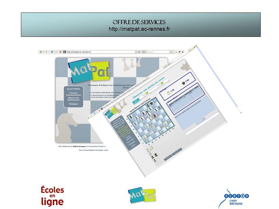 Offre de services http://matpat.ac-rennes.fr