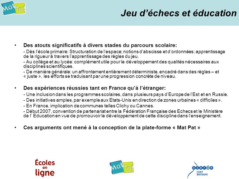 « Mat Pat » en quelques mots Une plate-forme spécifiquement dédiée au secteur scolaire, et portée par: Le CRDP de Bretagne, établissement public sous tutelle du Ministère de lÉducation Nationale.