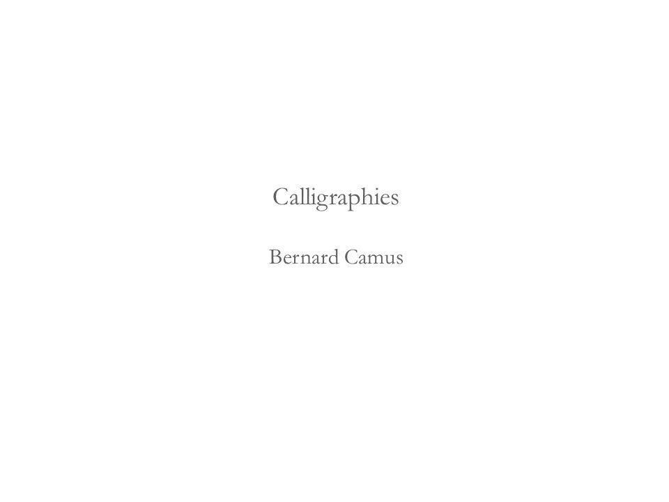 Calligraphies Bernard Camus