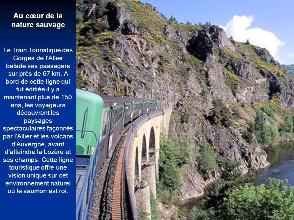 Au cœur de la nature sauvage Le Train Touristique des Gorges de l Allier balade ses passagers sur près de 67 km.