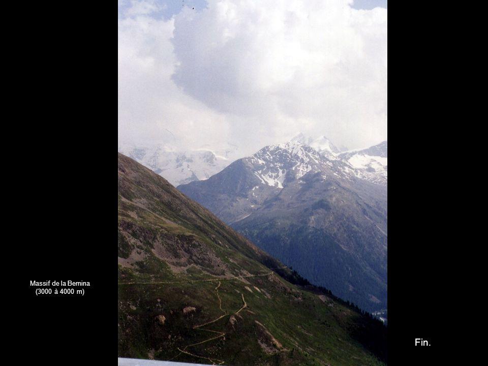 Massif de la Bernina (3000 à 4000 m) Fin.
