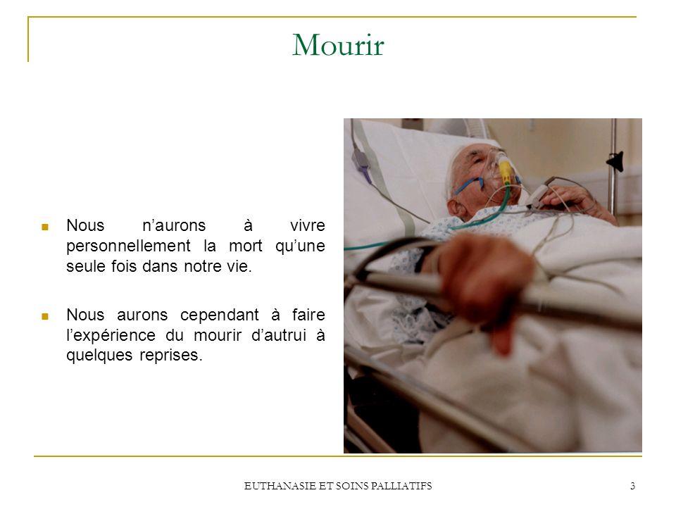EUTHANASIE ET SOINS PALLIATIFS 24 Barreau du Québec Le Barreau ne recommande pas de décriminaliser laide au suicide ou leuthanaise mais den assouplir lapplication dans un contexte de fin de vie.