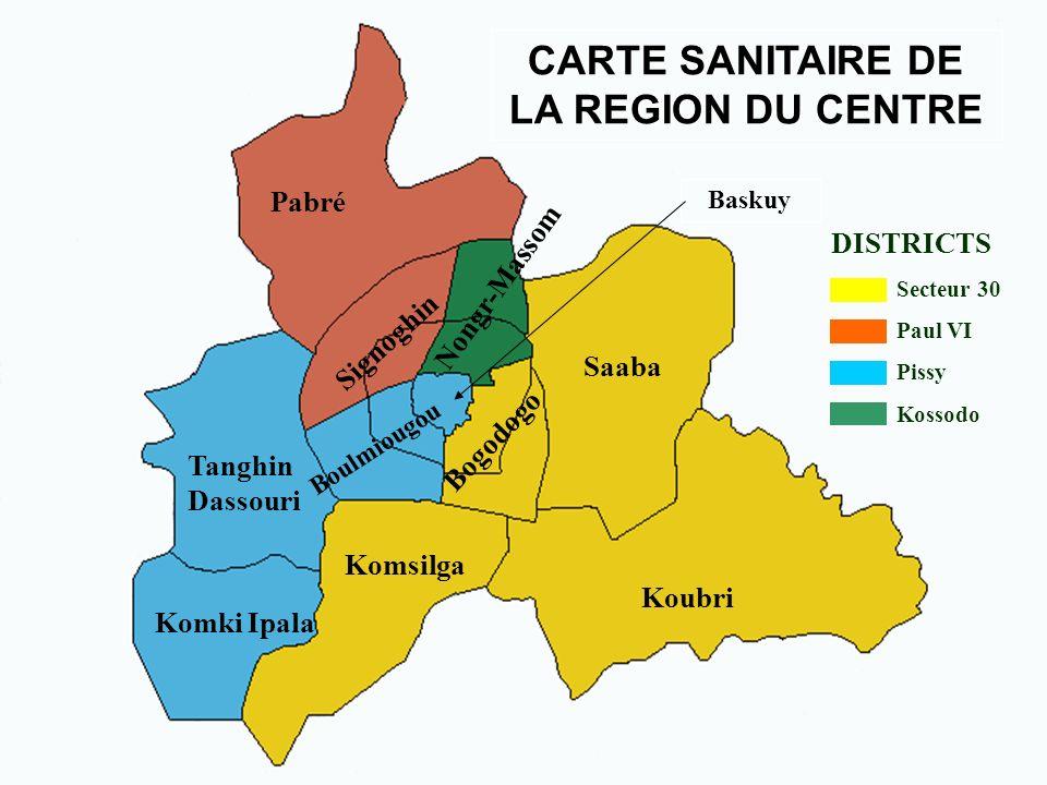 District sanitaire du secteur 30 470 000 habitants en 2005 21.000 naissances attendues 1 centre médical avec antenne chirurgicale (bloc 24h/24 depuis 1er Octobre 2004) 25 Centres de santé Partenaires du district : UNICEF, Coopération italienne, Médecins du Monde,...