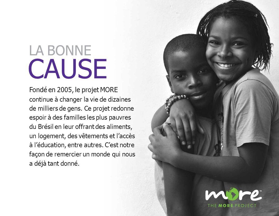 Fondé en 2005, le projet MORE continue à changer la vie de dizaines de milliers de gens. Ce projet redonne espoir à des familles les plus pauvres du B