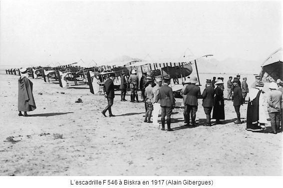 Lescadrille F 546 à Biskra en 1917 (Alain Gibergues)