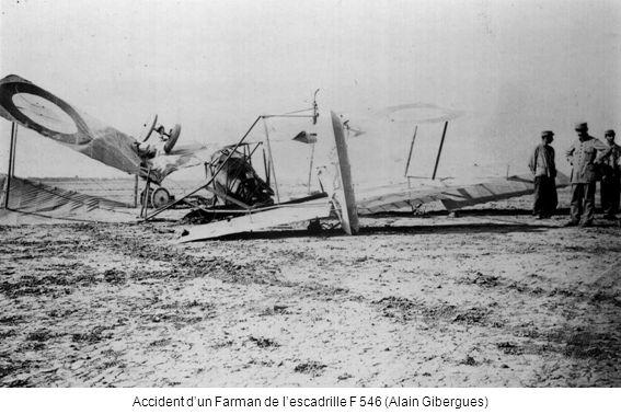 Accident dun Farman de lescadrille F 546 (Alain Gibergues)