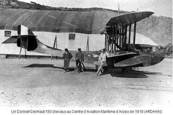 Un Donnet-Denhaut 150 chevaux au Centre dAviation Maritime dArzew en 1918 (ARDHAN)