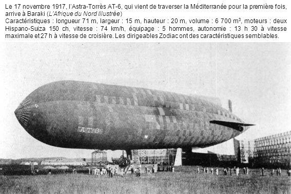 Le 17 novembre 1917, lAstra-Torrès AT-6, qui vient de traverser la Méditerranée pour la première fois, arrive à Baraki (LAfrique du Nord Illustrée) Ca