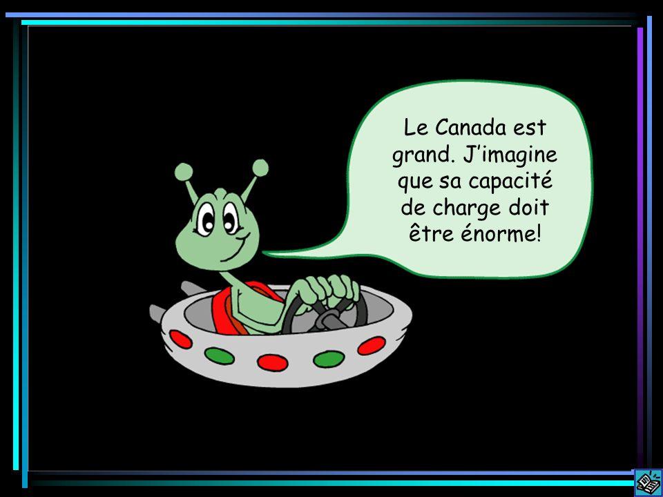Le Canada est grand. Jimagine que sa capacité de charge doit être énorme!