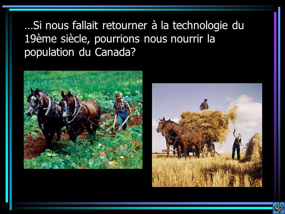 …Si nous fallait retourner à la technologie du 19ème siècle, pourrions nous nourrir la population du Canada?