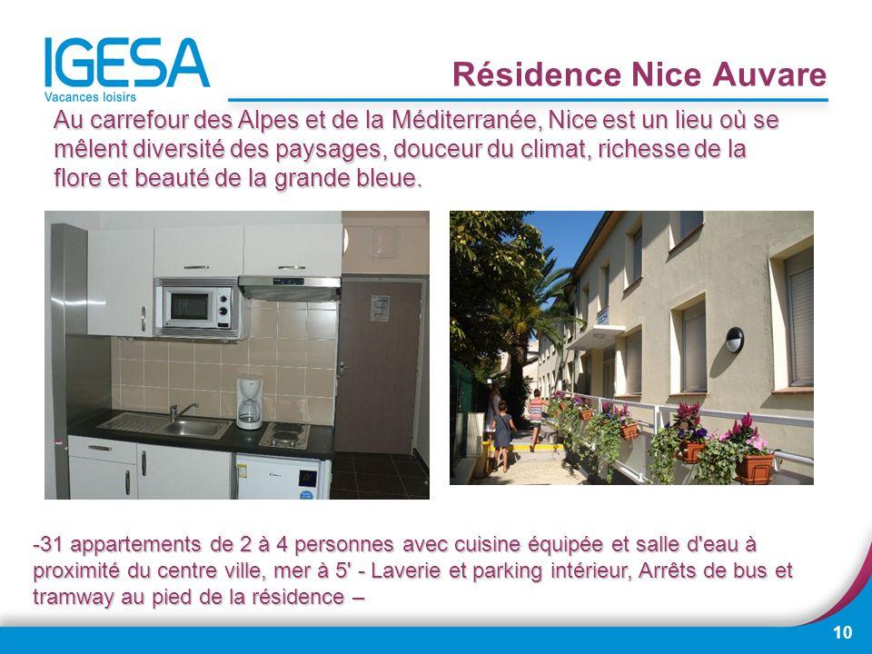10 Résidence Nice Auvare Au carrefour des Alpes et de la Méditerranée, Nice est un lieu où se mêlent diversité des paysages, douceur du climat, riches