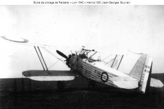 Ecole de pilotage de Relizane – Juin 1940 – Hanriot 436 (Jean-Georges Bouvier)
