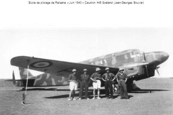 Ecole de pilotage de Relizane – Juin 1940 – Caudron 445 Goéland (Jean-Georges Bouvier)
