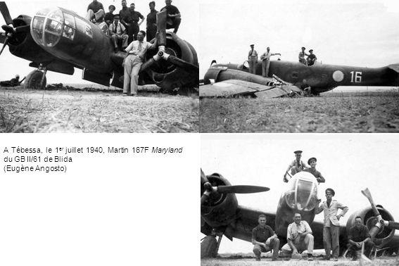 A Tébessa, le 1 er juillet 1940, Martin 167F Maryland du GB II/61 de Blida (Eugène Angosto)