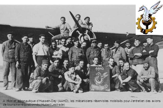 A lAtelier aéronautique d'Hussein-Dey (AAHD), les mécaniciens réservistes mobilisés pour l'entretien des avions de tourisme réquisitionnés (Hubert Les
