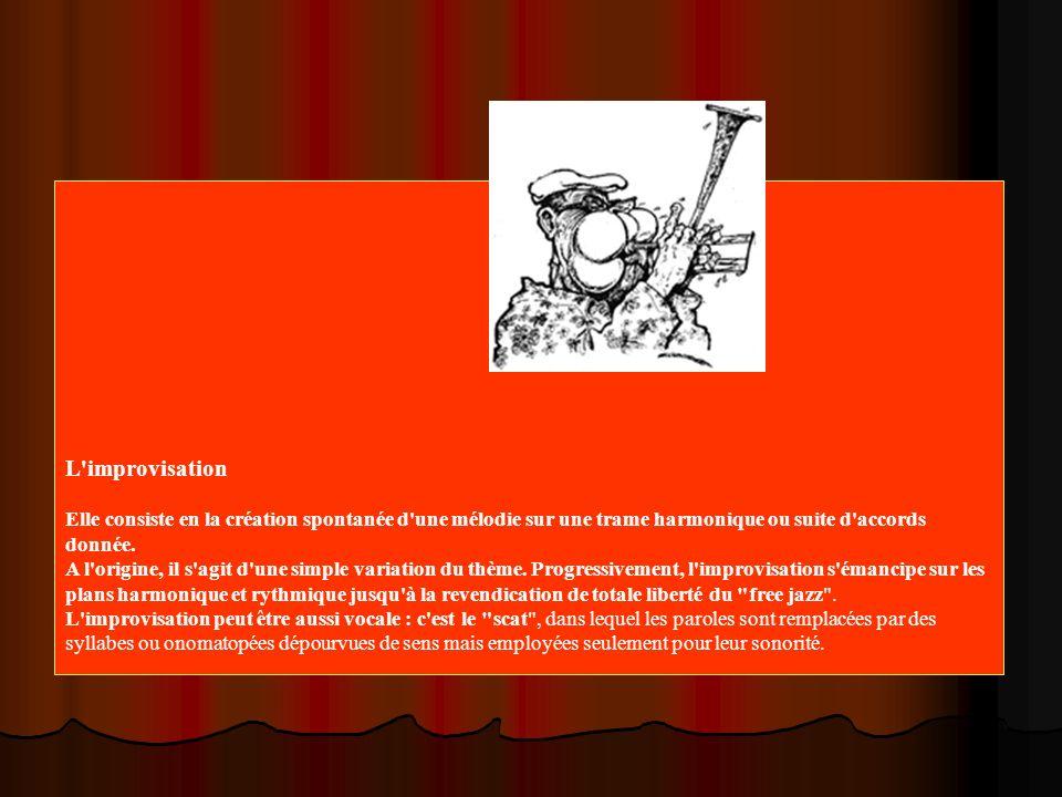L improvisation Elle consiste en la création spontanée d une mélodie sur une trame harmonique ou suite d accords donnée.