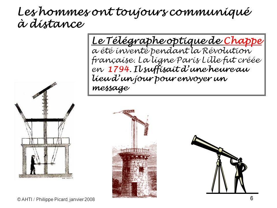 © AHTI / Philippe Picard, janvier 2008 27 Les premiers téléphones mobiles commerciaux en France En France, le premier service commercial significatif de radiotéléphone fut lancé en 1984: RADIOCOM 2000.