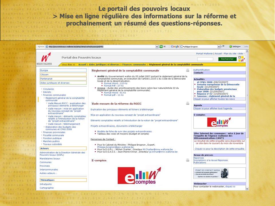 Ventilation des comptes généraux Art.38. § 1er.