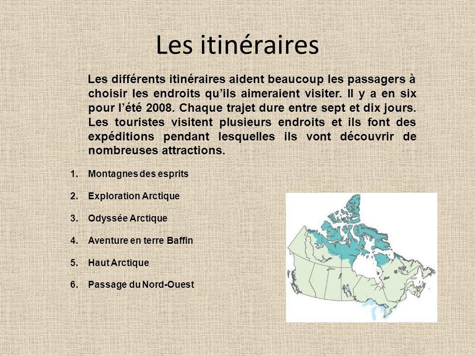 Les itinéraires Les différents itinéraires aident beaucoup les passagers à choisir les endroits quils aimeraient visiter. Il y a en six pour lété 2008